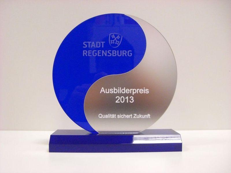 Ausbilderpreis Stadt Regensburg IHK Ausbildung 2013 Wirtschaftskanzlei MTG Bayern
