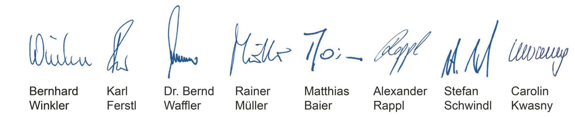Unterschriften MTG Wirtschaftskanzlei Unternehmensphilosophie