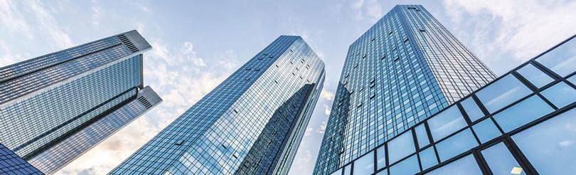 Hochhäuser Büros Gebäude Komplex Beratung International Weltweit Recht Wirtschaftskanzlei MTG Bayern