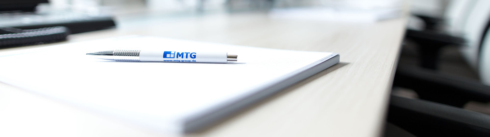 Kugeschelschreiber Unterschrift Logo MTG Unternehmensnachfolge Beratung Wirtschaftskanzlei Bayern
